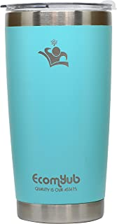 EcomYub 20oz Tumbler Insulated Stainless Steel Coffee Cup with Lid & Reusable gift box (Green Menthe 20 oz)