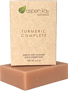 Organic Turmeric Soap - 100% Natural and Organic - Loaded with Organic Turmeric. Gentle Soap. 4.5oz Bar. (Turmeric Complet...