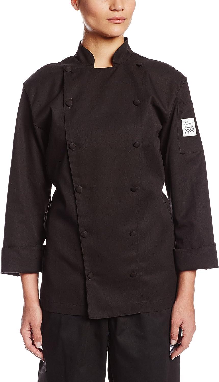 Chef Revival LJ025BKXL Black Ladies Cuisinier Chef Jacket  Cheftex Size 16 (XL)