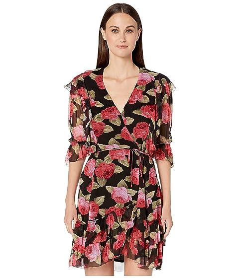 The Kooples Peony Garden Print Midi Dress