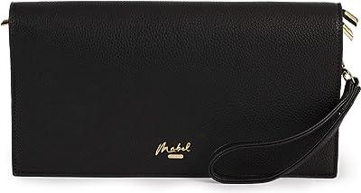 Mabel London Damen Clutch mit mehreren Taschen, große Größe, langer Riemen, aus EVA.