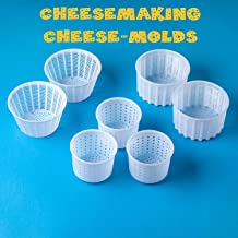 7 items Cheese making kit   Variouse cheese molds 0.25-0.6 kg for soft cheeses (7). Cheesemaking from Cow and Goat Milk. Cheese making supplies from the manufacturer.