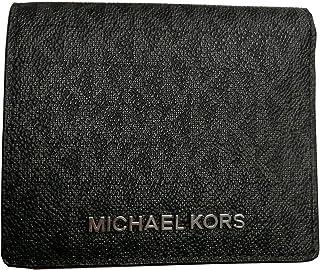 Michael Kors Jet Set Travel Black PVC Signature Card Case Carryall Medium Wallet …