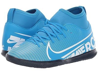 Nike Kids Jr Superfly 7 Club IC Soccer (Little Kid/Big Kid) (Blue Hero/White/Obsidian) Kids Shoes