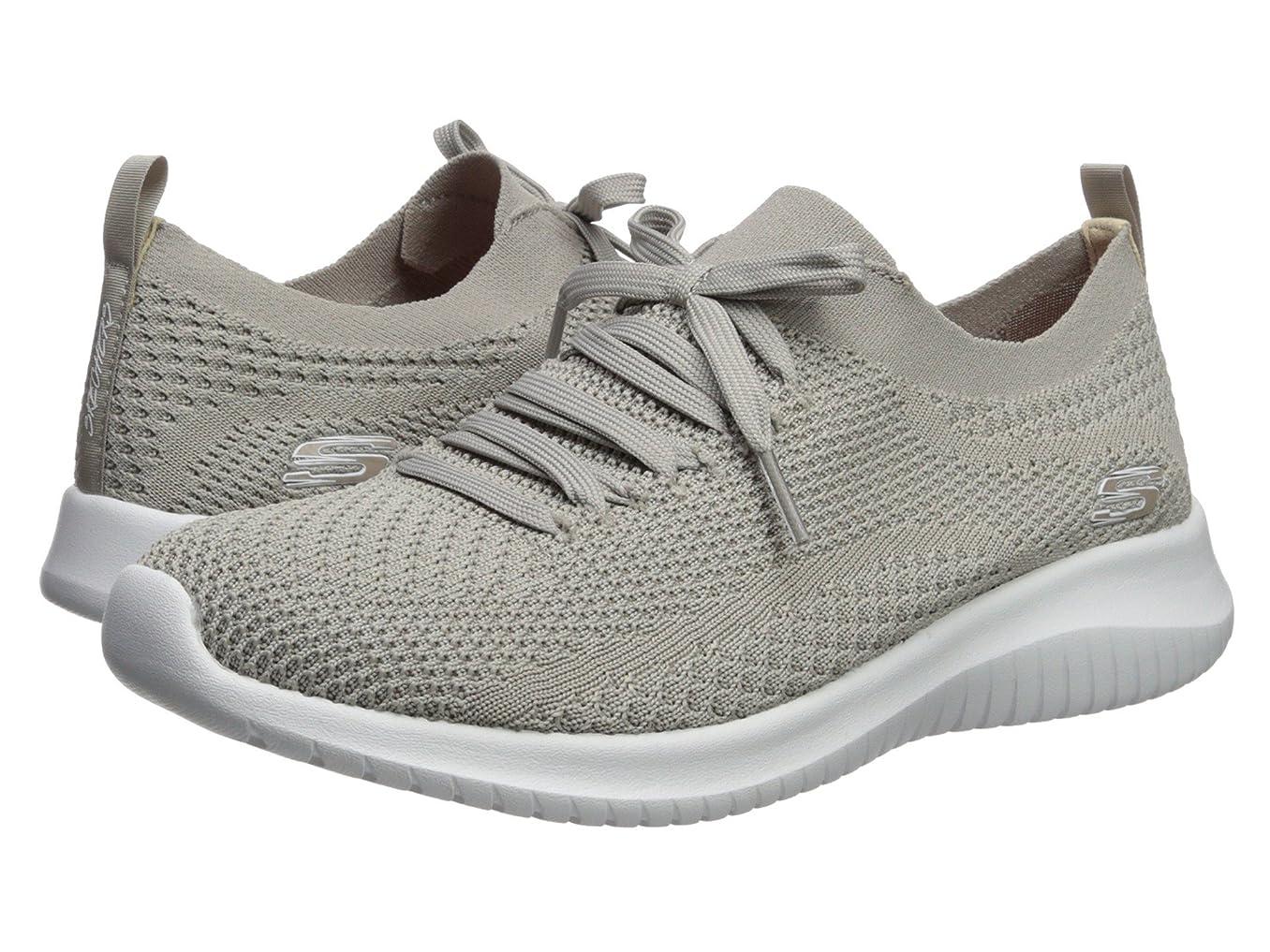 箱脈拍塩レディーススニーカー?ウォーキングシューズ?靴 Ultra Flex - Statements Taupe 5.5 (22.5cm) B [並行輸入品]