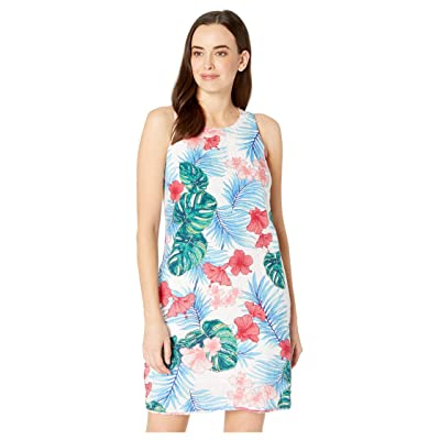 Tommy Bahama Lily Lei Lei Shift Dress (White) Women