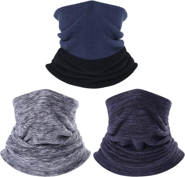 Neck Warmer Gaiter & Fleece Neck Warmer - Ski Face Mask Cover for Winter Cold Weather & Keep Warm 2Pcs