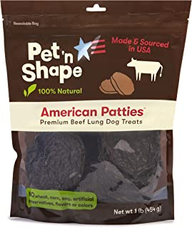 Pet 'n Shape All American Beef Lung Patties Dog Treats – Made and Sourced in The USA