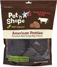 Pet 'n Shape All American Beef Lung Patties Golosinas para perros - Hecho y abastecido en los EE. UU.