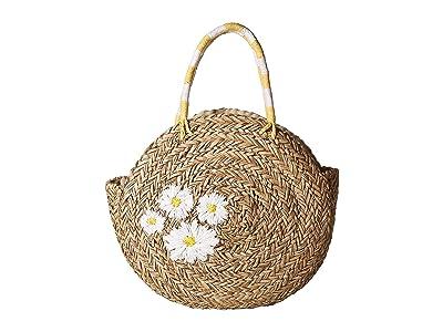 San Diego Hat Company BSB1735 Circular Daisy Tote (Natural) Handbags