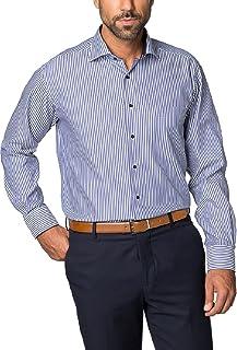 Eterna Long Sleeve Shirt Comfort FIT Twill Striped