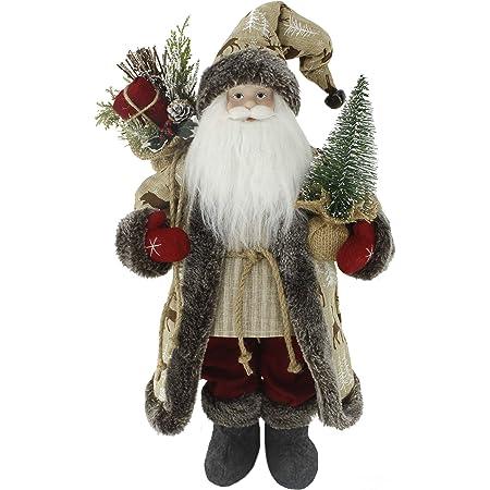 Mardi Gras Christmas 18 inch Standing Santa St Nicholas Doll Holiday Ornament Home Decor