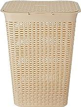 HOUZE LN-5191 Rattan Tall Laundry Basket, Beige, 60L