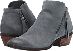 Grey Iris Resinato Velutto Suede Leather