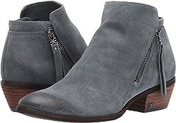 Grey Iris Resinato Velutto Suede Leather