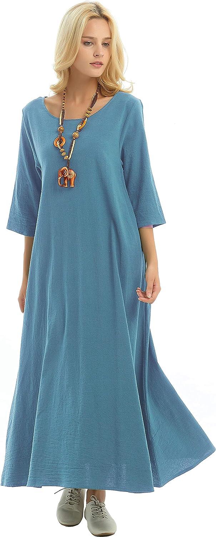 Anysize Three Quarter Sleeves Linen Plus Summer Cotton Si Spring Finally popular cheap brand