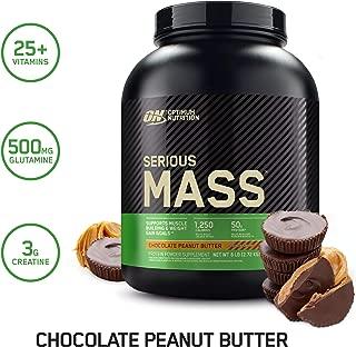 OPTIMUM NUTRITION Serious Mass Diet Supplement, Chocolate Peanut Butter, 6 Pound..