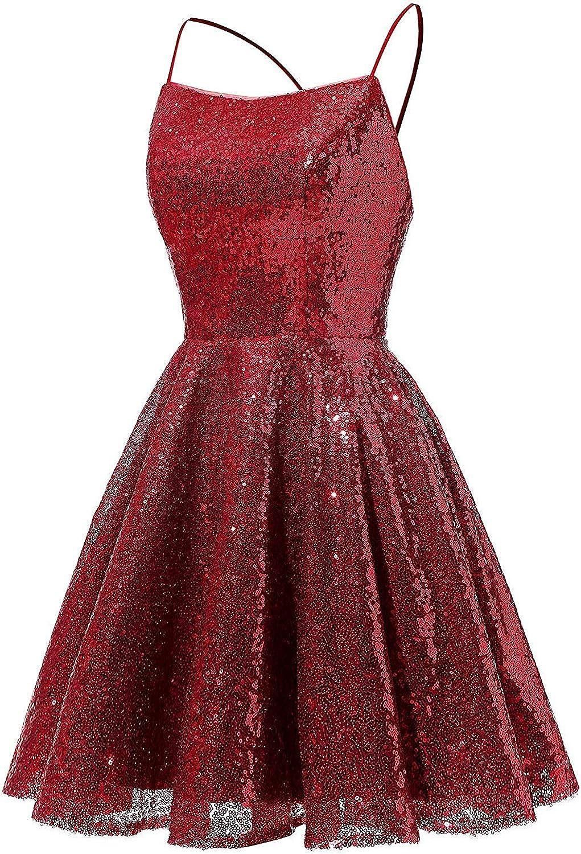 ASBridal Prom Dress Short Homecoming Dresses for Juniors Sequin Bridesmaid Dresses Backless