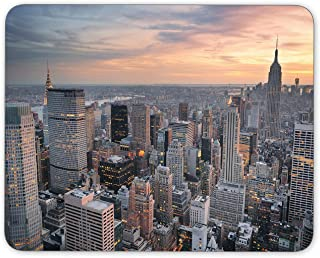 New York City skyline aerial view at sunset with colorful cloud Mouse Pad mouse mouse pad Mouse Pad Pad Office Mouse Pad Gaming Mouse Pad Mat Mouse Pad mousepad Dimension: 9.5