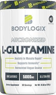 Bodylogix Micronized L-Glutamine Powder, NSF Certified, Unflavored, 300g