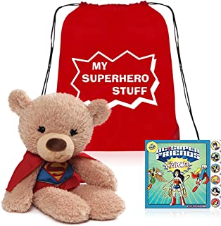 My First Supergirl Superhero and Toddler Board Book Set Presented in My Superhero Book Toy Tote Bag for Convenient Storage Ready for Giving