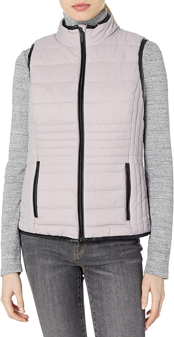 Plus Size Marc New York Performance Womens Knit Puffer Vest