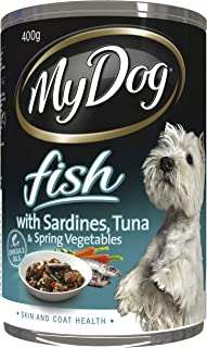 MY DOG Fish with Sardines Wet Dog Food, 400g x 24 Pack, Adult, Small/Medium