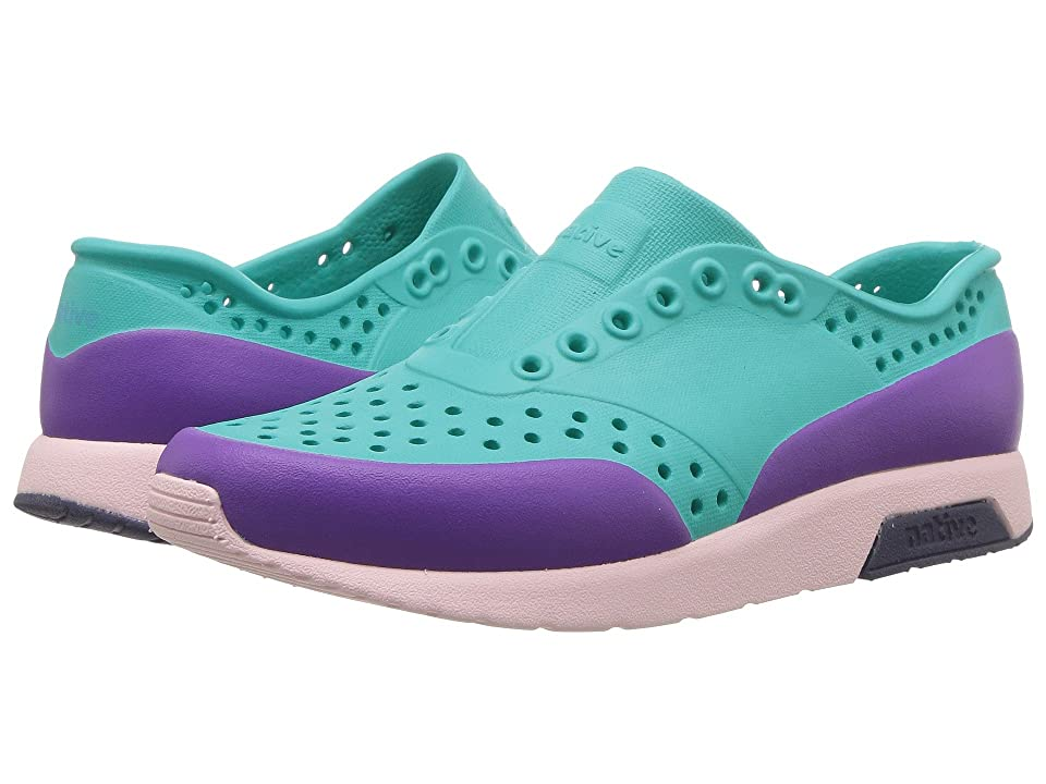 Native Kids Shoes Lennox Block (Little Kid) (Glacier Green/Cold Pink/Regatta Blue/Starfish Block) Girls Shoes