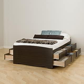 Prepac -K Tall Queen Sonoma Platform Storage Bed with 12 Drawers, Espresso