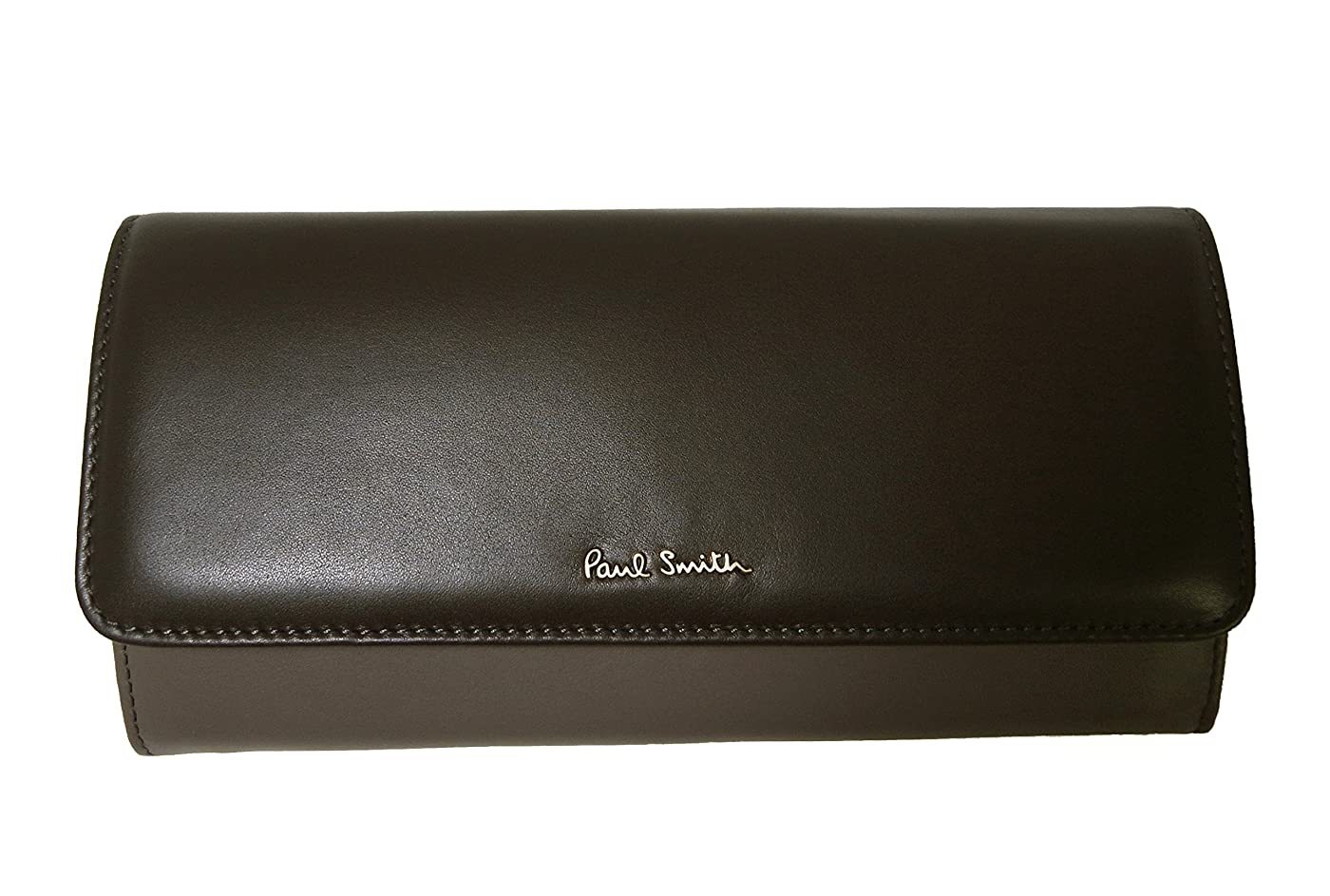 毒性ライム面白い[ポールスミス] 財布 レディース 二つ折 長財布 (ダークブラウン) PA-987 [並行輸入品]