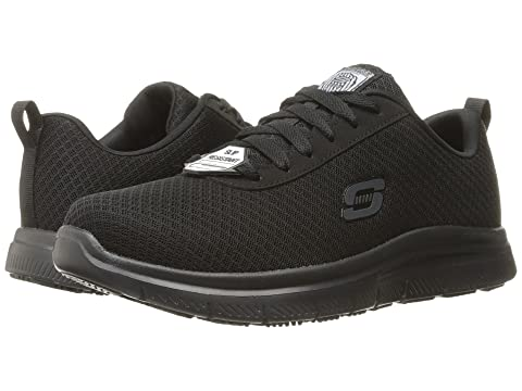 Skechers for Work Men's Flex Advantage Bendon Work Shoe, Black, 8.5 M US