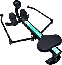 Harvil Hydraulic Rowing Machine Adjustable Resistance with Folding Arms, LCD Monitor..