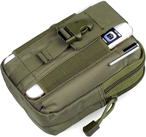 Men S Nylon Outdoor Tactical Waist Bag EDC Molle Belt Waist Pouch Security Purse Phone Carrying Case Green