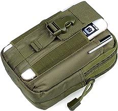 GOCART WITH G LOGO Men's Nylon Outdoor Tactical Waist Bag EDC Molle Belt Waist Pouch Security Purse Phone Carrying Case (Green)