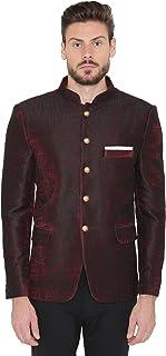 WINTAGE Men's Imported Rayon Party/Festive Indian Jodhpuri Grandad Bandhgala Blazer : 3 Colors