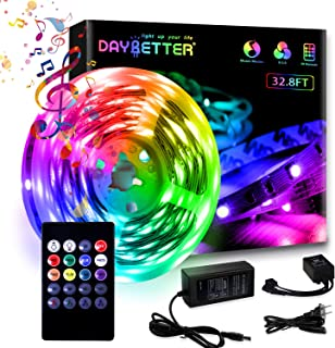 Sponsored Ad - Daybetter 32.8ft Led Strip Lights with Remote Control Sync to Music(1 Roll of 32.8ft)