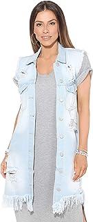 04955ade459a0 Amazon.fr : veste en jean sans manche femme - Bleu