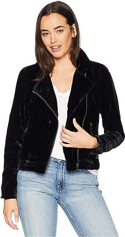 Michelle Velvet Moto Jacket