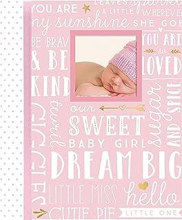 Lil Peach First 5 Years Dream Big Wordplay Baby Memory Book Journal, Baby Shower Gift, Pink