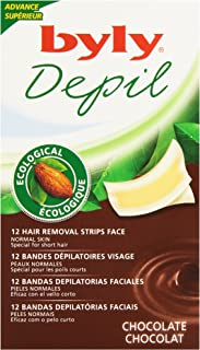 BYLY DEPIL bandas faciales chocolate 12 uds