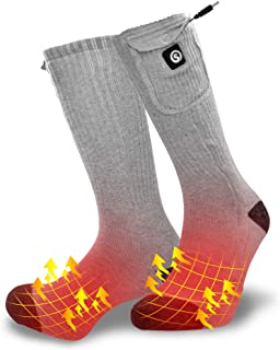 Heated Socks Skiing Arthritis Raynaud Electric Foot Warmer Rechargeable Powered Battery 7.4V 2200MAH Cold Winter Snow for Outdoor Indoor Hunting Fishing Camping Hiking Riding for Men Women