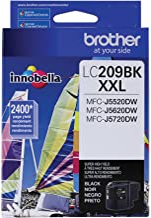 Brother Printer LC209BK Super High Yield Ink Cartridge, Black