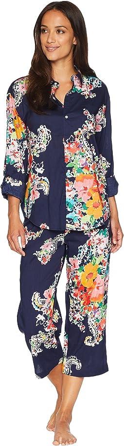 His Shirt Capris Pajama Set