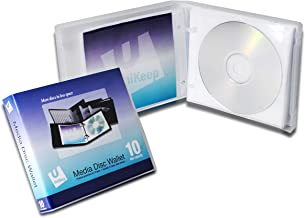 Univenture Empty UniKeep 10 Disc Wallet - Case of 20 - Clear