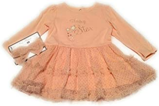 Vitamins Baby 3-Piece Shining Star, Peach Dress Outfitperfect for Wedding or Valentine's Day, Size 9 Months