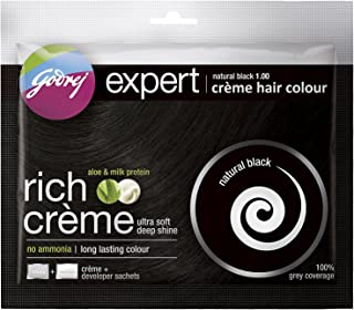Godrej Expert Creme Hair Colour Natural Black 20G+20Ml