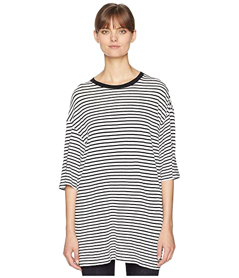 R13 Oversized Striped Boyfriend T-Shirt