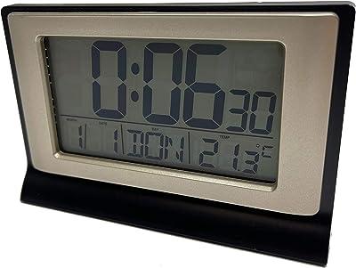 Jinxuny Scrivania Orologio Digitale Orologio da Viaggio Radiosveglia LCD Pieghevole Digitale Sveglia Pieghevole Calendario Sveglia con Timer per termometro Calendario Orologio Manuale utente