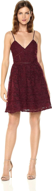 BB Dakota Womens Sutton Fit N Flare Lace Dress Dress