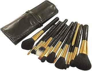 Puna Store 15 Piece Makeup Brush Set - Black + Gold